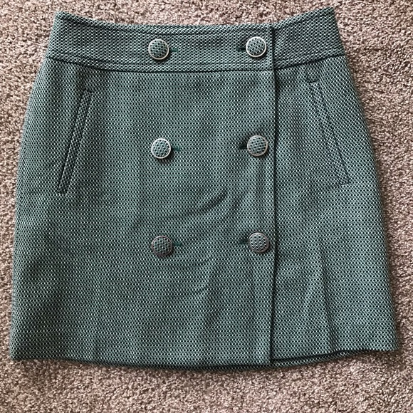 915d34473b Ann Taylor Loft Wool Mini Skirt Green Buttons. NWT. Ann Taylor.  M_5ce441b98557af7e80dcb893. M_5ce441bbd948a1ac755db4fe.  M_5ce441bc10f00f7fbf014dcf